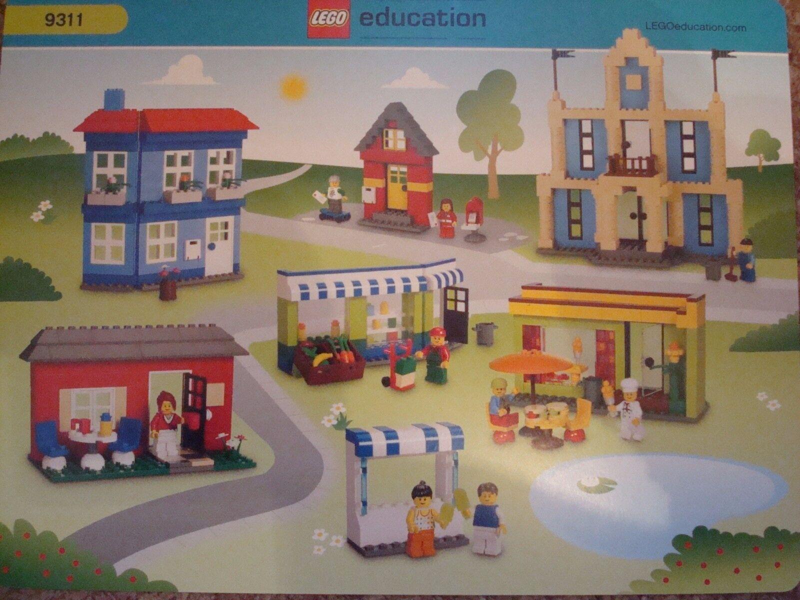 LEGO 9311 EDUCATION CITY BUILDING TUB VERY RARE RETIrot SET