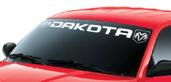 WINDOW WINDSHIELD BANNER DECAL STICKER FOR DAKOTA RAM Vinyl truck