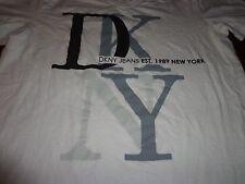 Women's DNKY JEANS, T-Shirt, 100% Cotton, Short Sleeve, White, Casual, Sz M L7