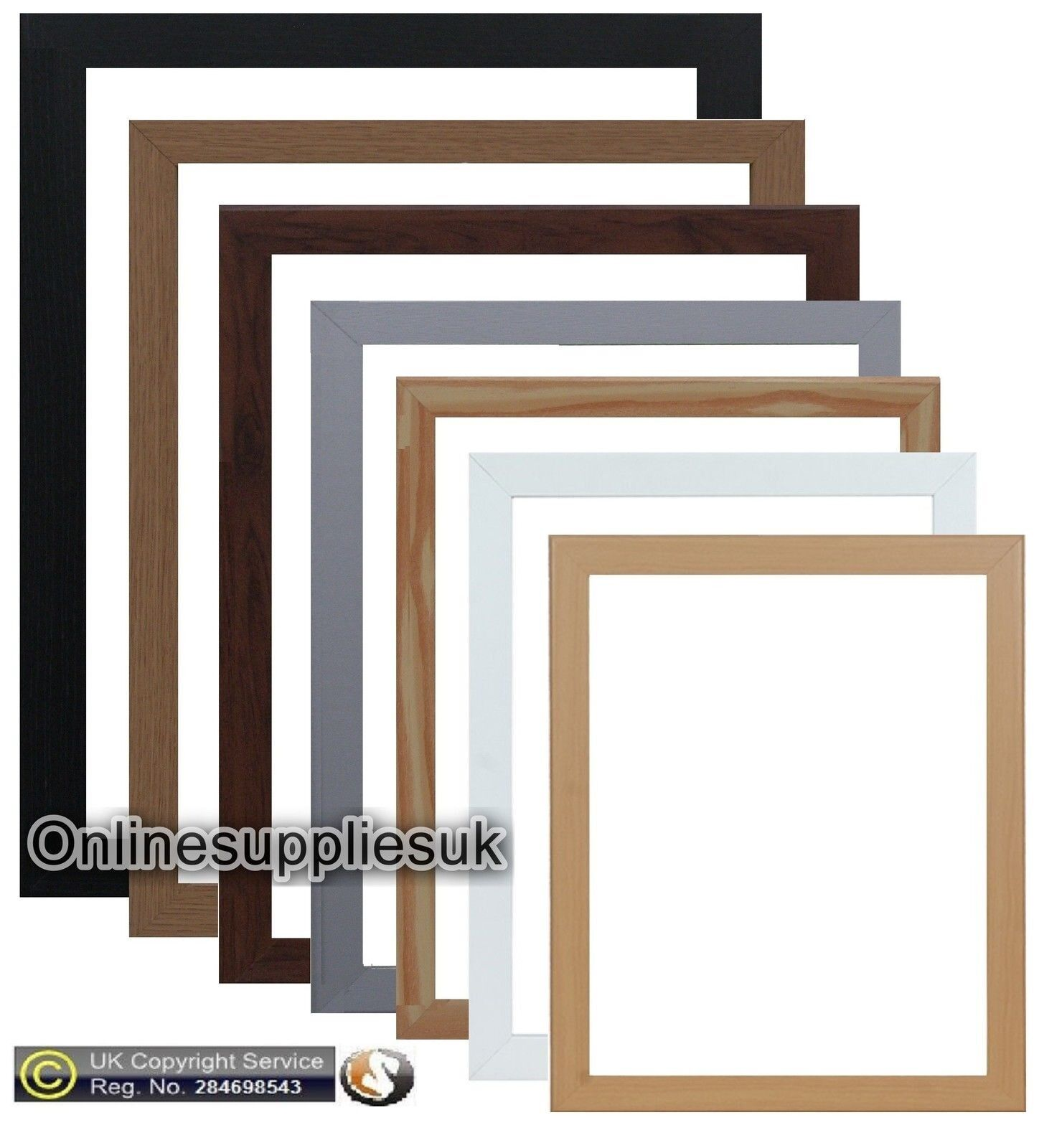 MODERN STYLE PHOTO PICTURE FRAME BLACK WHITE SILVER PINE OAK BEECH LARGE POSTER