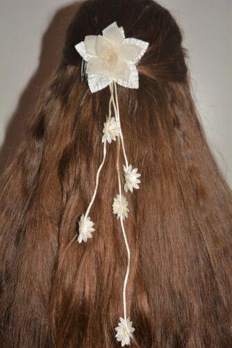 ❤ Braut Kopfschmuck Kommunion Haarschmuck Haargesteck z Kommunionkleid ivory *9