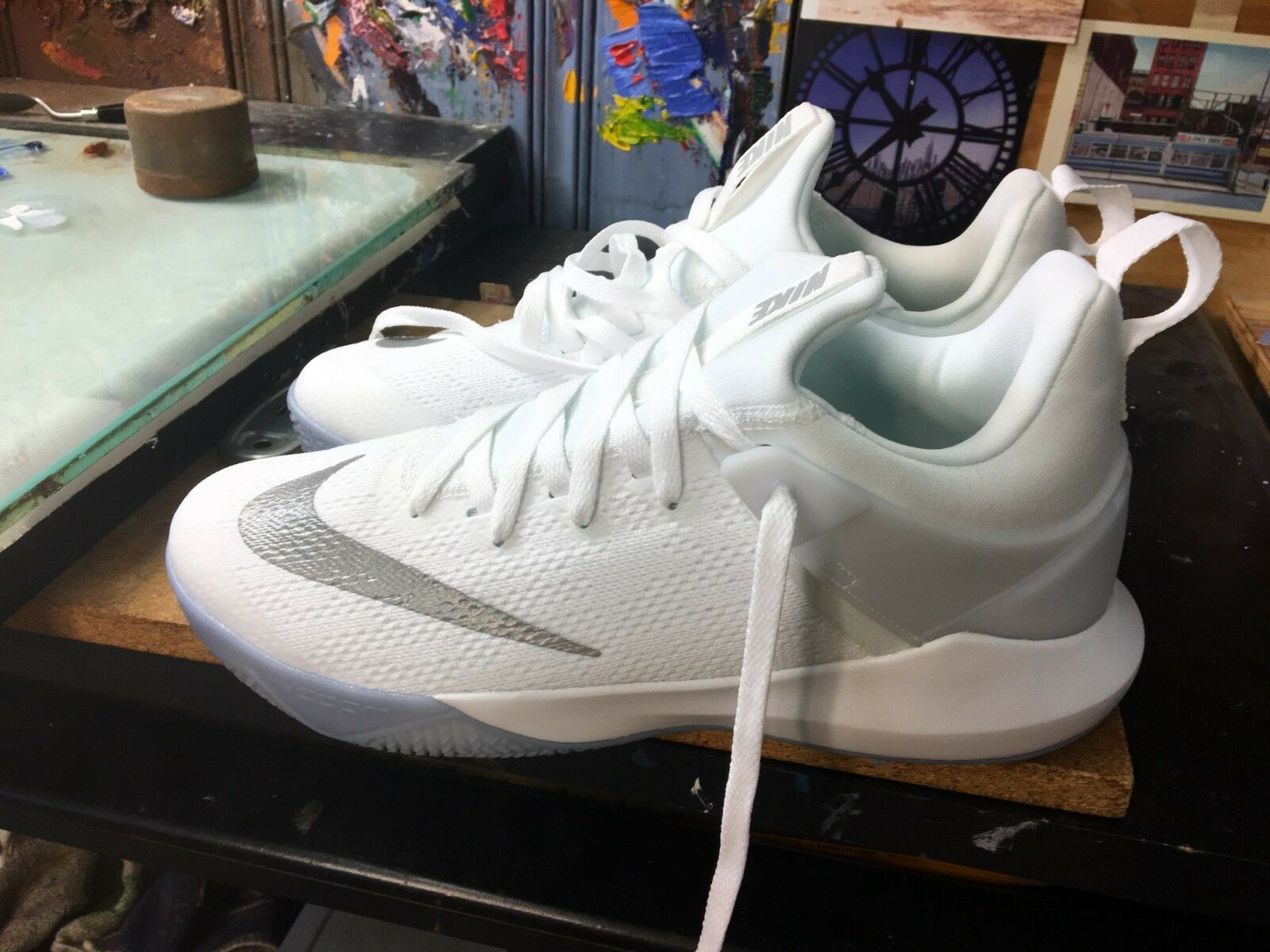 Nike Zoom Shift White/Reflect Silver Size US 13 Men's 897653 100