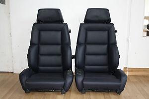 2-Recaro-C-Classic-fuer-Mercedes-E500-W124-Edition-Sitze-Leder-AMG-neu-bezogen