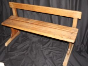 Miraculous Details About Wooden Vintage Primary French School Bench Onthecornerstone Fun Painted Chair Ideas Images Onthecornerstoneorg