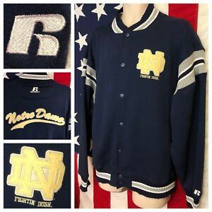 327d4f869 Image is loading RARE-Vintage-Russell-NOTRE-DAME-FIGHTING-IRISH-Sewn-