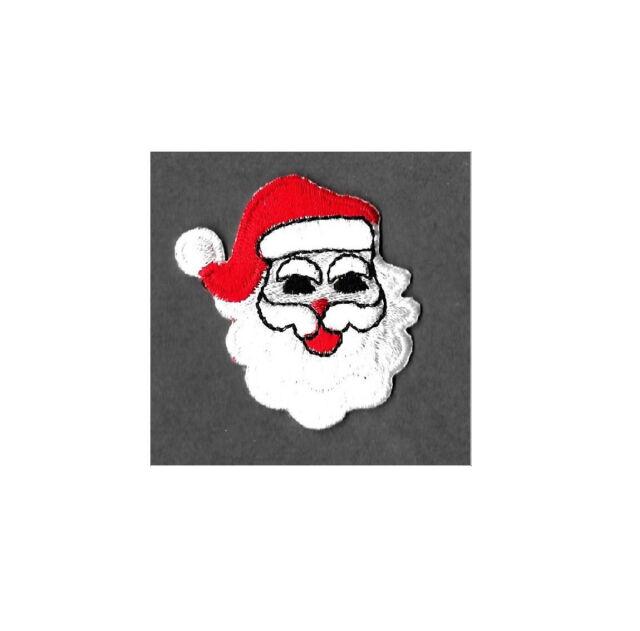 Santa Claus Christmas Embroidered Iron On Applique Patch Kris Kringle
