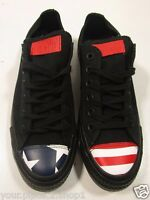 Converse Chuck Taylor All Star Ox Usa Flag Toe Cap Black-blue-red Sneakers