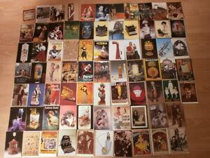 Konvolut-76-nostalgische-Postkarten-alte-Reklame-Werbung-Persil-Opel-Salem-usw