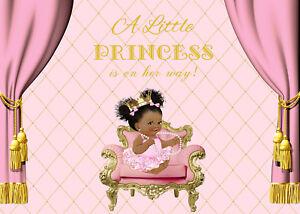 7x5ft Vinyl Studio Backdrop Cute Little Princess Birthday Baby