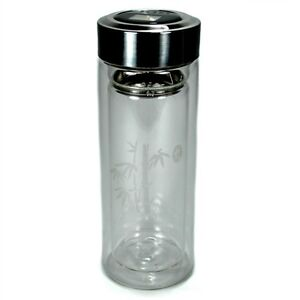 image is loading insulated glass tea thermos 9oz 270ml travel strainer - Glass Thermos