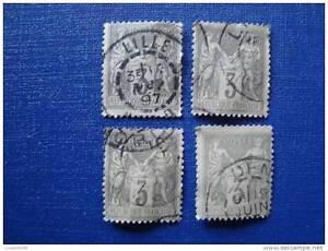 FRANCE-timbre-stamp-yt-n-87-x4-obl-Z