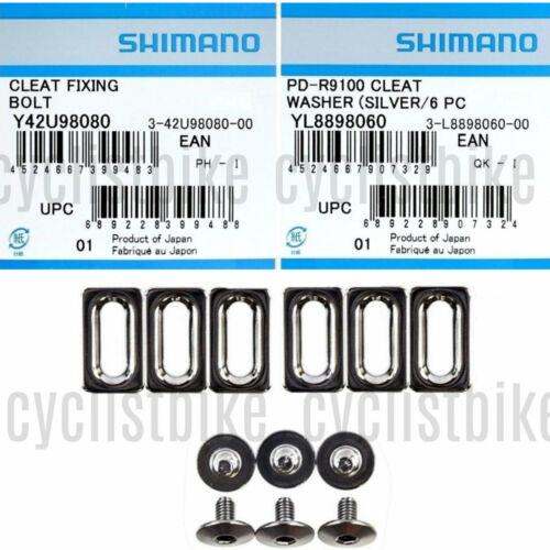 Shimano Dura-Ace//Ultegra//105 Cleat fixing bolts M5x8mm /& Cleat Washers NIB
