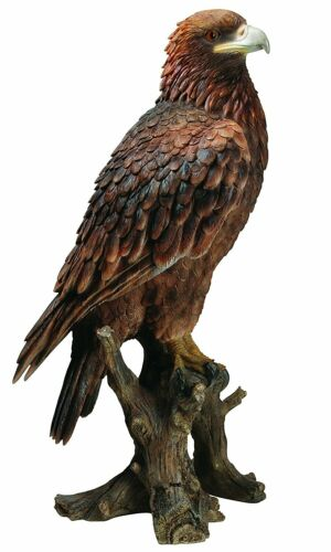 Real Life Stunn... Indoor or Outdoor Golden Eagle Lifelike Garden Ornament