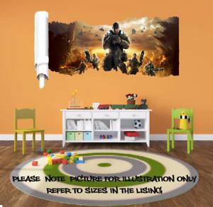 Dettagli su GIOCO g.o.w Rip Effetto Finestra Adesivo Muro Poster Vinile  Camera Da Letto ARTE Bambini Gamer- mostra il titolo originale