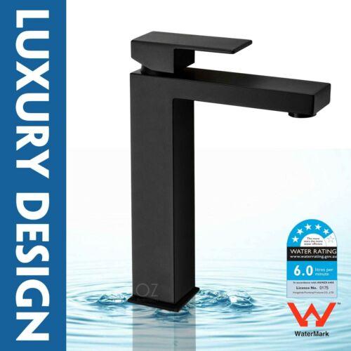 Rectangular Above Counter Top Ceramic Basin Sink Vanity Waste Black Mixer Tap