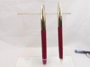 Vintage-Sheaffers-Fountain-Pen-and-Ballpoint-Pen-Set-Serviced-New-Refill-11E