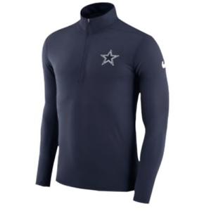 f7ac16aea Dallas Cowboys Nike Element Half Zip Dri FIT Shirt NFL NWT Blue 1 2 ...