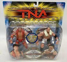 TNA IMPACT Toybiz Samoa Joe Aj Styles Marvel Toys Sacrifice 2 pack MOC WWE