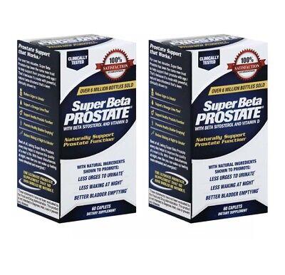2 Pack New Vitality Super Beta Prostate Health Support 60 x2 120 Caplets 2020