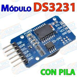 Modulo-reloj-DS3231-RTC-precision-Bateria-I2C-tiempo-real-32k-pila-Arduino-E