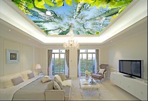 3D Birke Blätter 895 Fototapeten Wandbild Fototapete BildTapete Familie DE Kyra