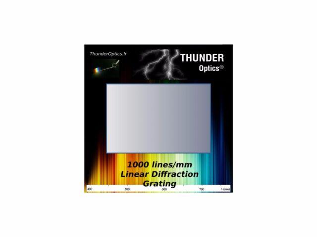 Pack of 10 - Diffraction Grating Slide - Holographic - 1000 Lines/mm - 2
