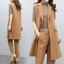 Frakker Nye Slim Formal Suit Outwear Lange Business Vest Kvinder Sleeveless 2stk Fit xfq8nw1SI