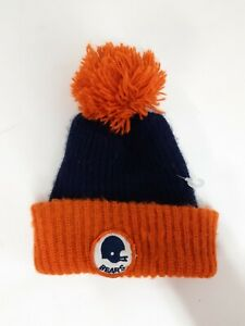 5e8f3b35907ae3 New Chicago Bears NFL Vintage Winter Pom Knit Patch Hat Ditka 80's ...
