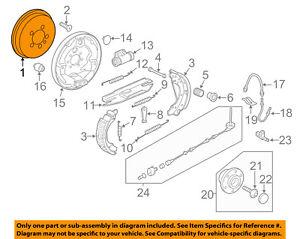 details about vw volkswagen oem 11 12 jetta rear brakes brake drum 5c0609617a Brake System