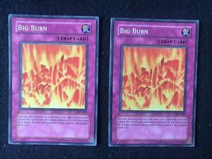 Super Rare 1st Edition Moderately Played YuGiOh Big Burn IOC-047
