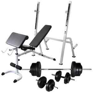 vidaXL-Workout-Bench-with-Weight-Rack-Barbell-and-Dumbbell-Set-60-5kg-Fitness