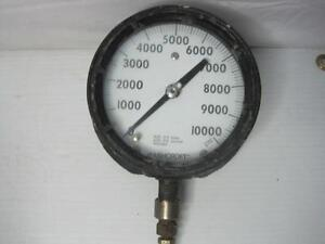 8857 Ashcroft 10,000 PSI Duragauge Gage 316 Tube and Socket FREE Ship Conti USA