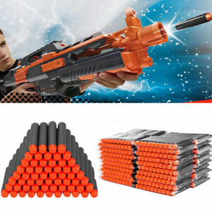 200pack Glow Refill Bullet Darts for Nerf N-strike Elite Series Toy Gun (black)