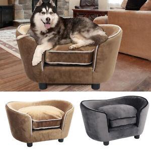Pet-Sofa-Couch-Dog-Cat-Plush-Fabric-Soft-Cushion-Mat-Chair-Chaise-Puppy-Sleeping