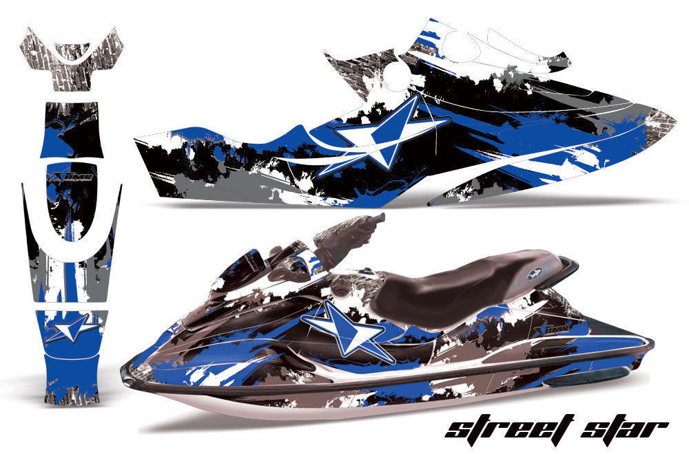 Jet Ski Grafik Kit Aufkleber für Sea Doo Bombardier GSX 1996-1999 Street Blau