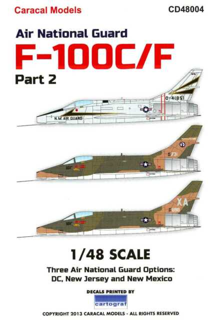 Caracal Decals 1//48 CONVAIR F-102A DELTA DAGGER Air National Guard Units