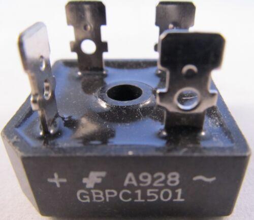 2pcs 2 pezzi-ponti raddrizzatori 15a 100v GBPC 1501 = KBPC 1501 Fairchild