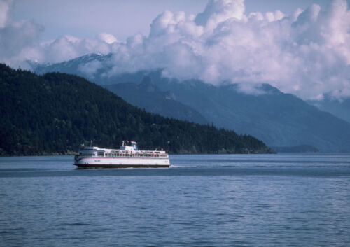 Canvas Ferry Approaching Nanaimo Art Print POSTER