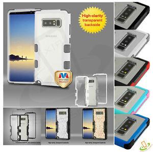 Samsung-Galaxy-Note-8-Hybride-Antichoc-de-Protection-en-caoutchouc-rigide-clear-case-cover