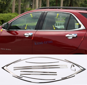 Details About For Chevrolet Equinox 2018 2019 Stainless Steel Window Strip Cover Trim 12pcs