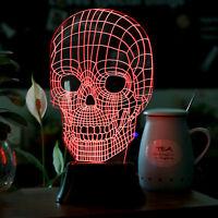 Savfy 3d Skull Bulbing Bedroom Decorative Night Multi 7 Color Change