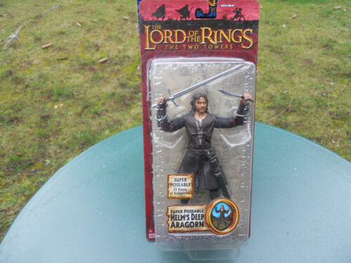"""LORD OF THE RINGS THE TWO TOWERS   /"""" ARAGORN /""""  MINT IN BOX"""