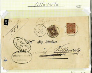 Italy Stamps Stamped Cover from Dueville to Villaverla Scarce