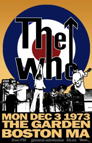 0279 Vintage Music Poster Art The Who Boston