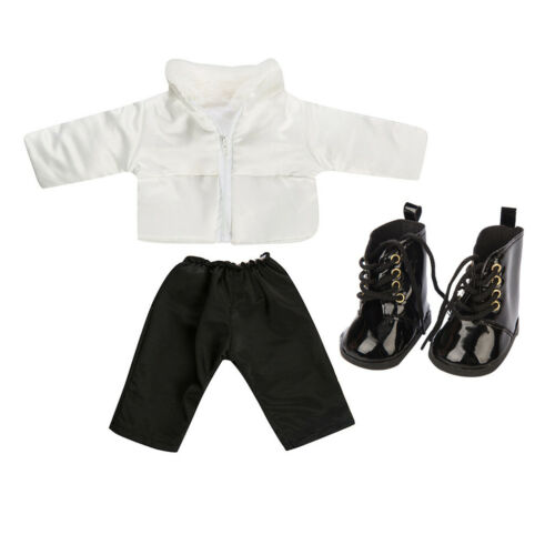 Fashion Cute Clothes Down Jacket with Shoes For 18 Inch Girl Doll Clothes Set