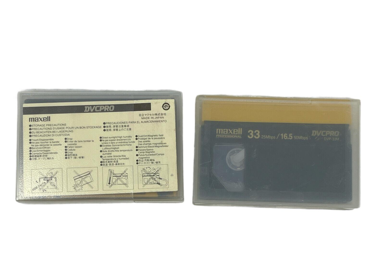 Lot Of 2 New Maxell DVCPRO DVP-33M Digital Video Cassettes