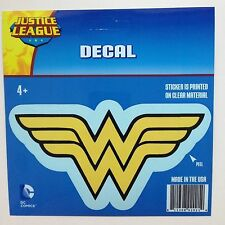 "DC Comics Justice League Wonder Woman logo Car Window Sticker Decal 6"" B/Y"