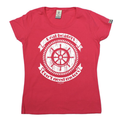 Real Boaters Dont Need Motors WOMENS T-SHIRT Yacht Sailing Funny Gift birthday