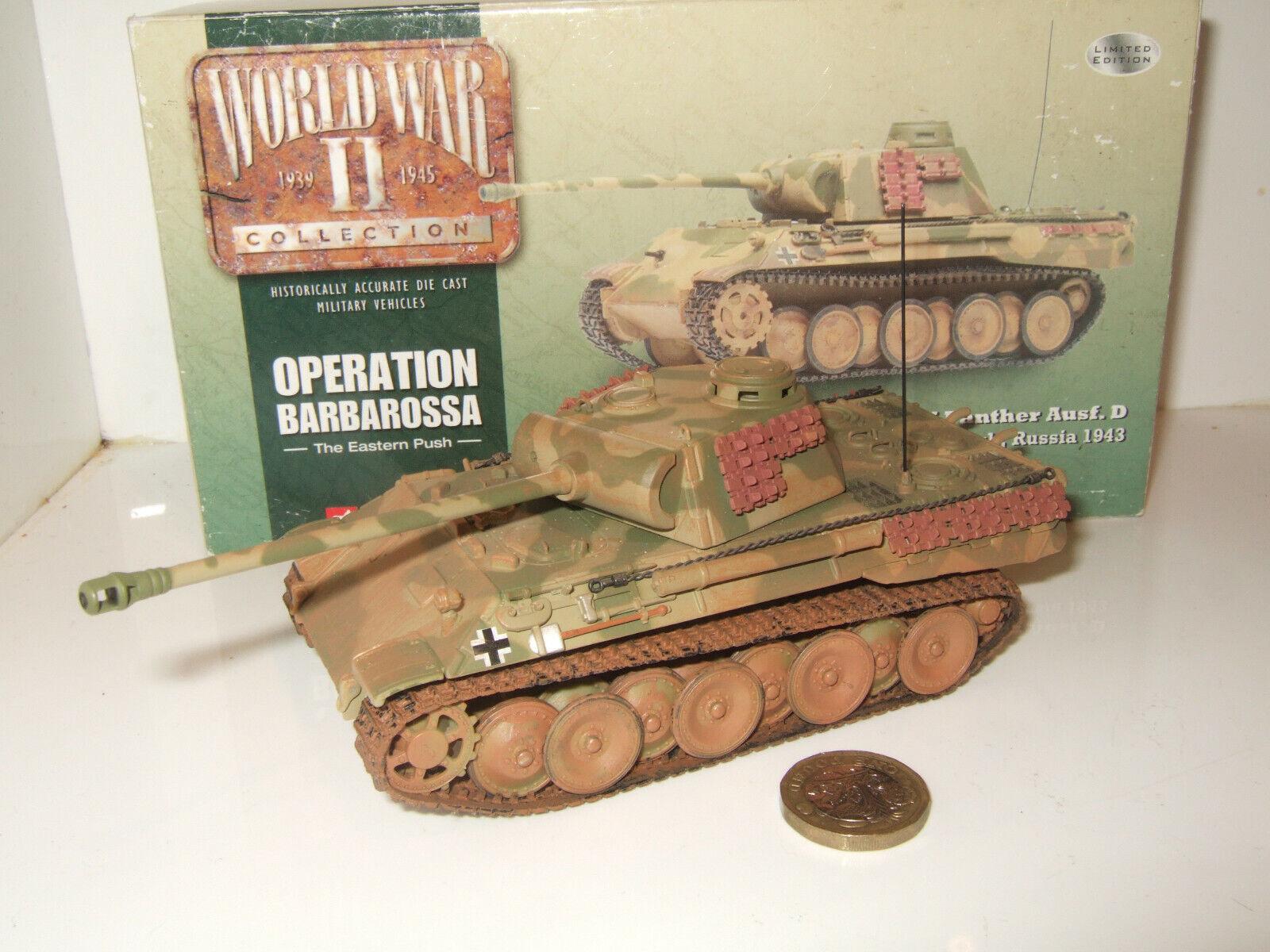Corgi CC60201 PzKpfw V Panther Ausf. D Panzer Regt, op Barbarossa Rusia en 1 50