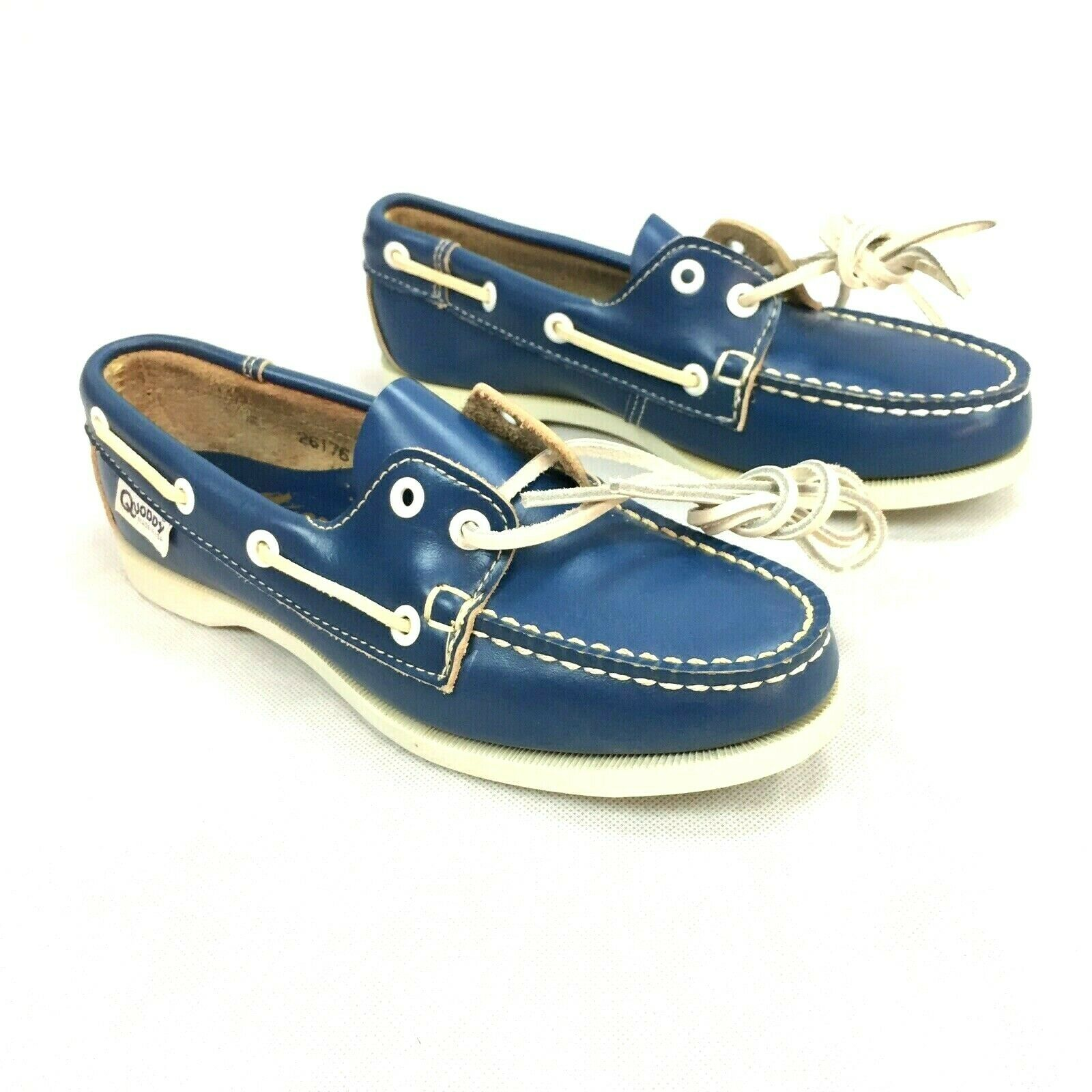 Quoddy Leather Moccasins Handmade blu - donna's Dimensione 6M - USA